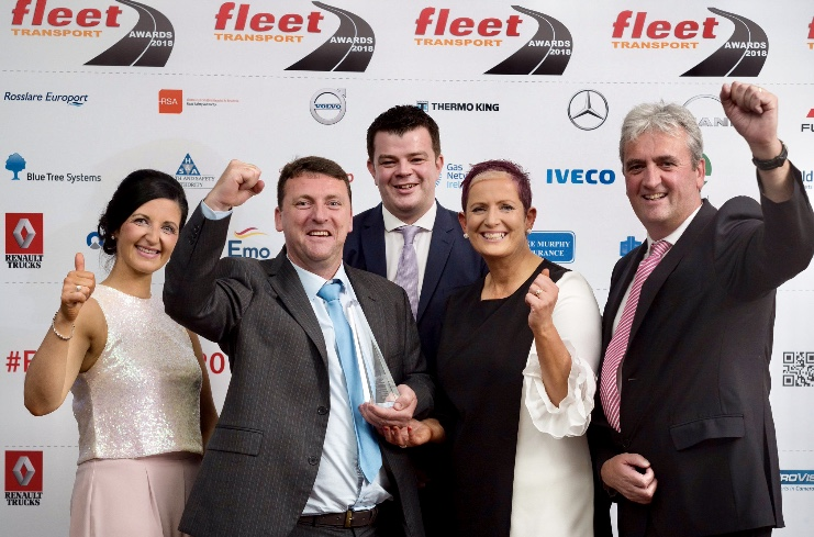 Winners at Fleet Transport Awards 2018